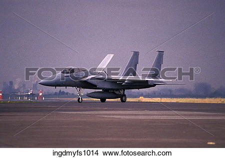 Stock Photo of F15 On Runway ingdmyfs1014.