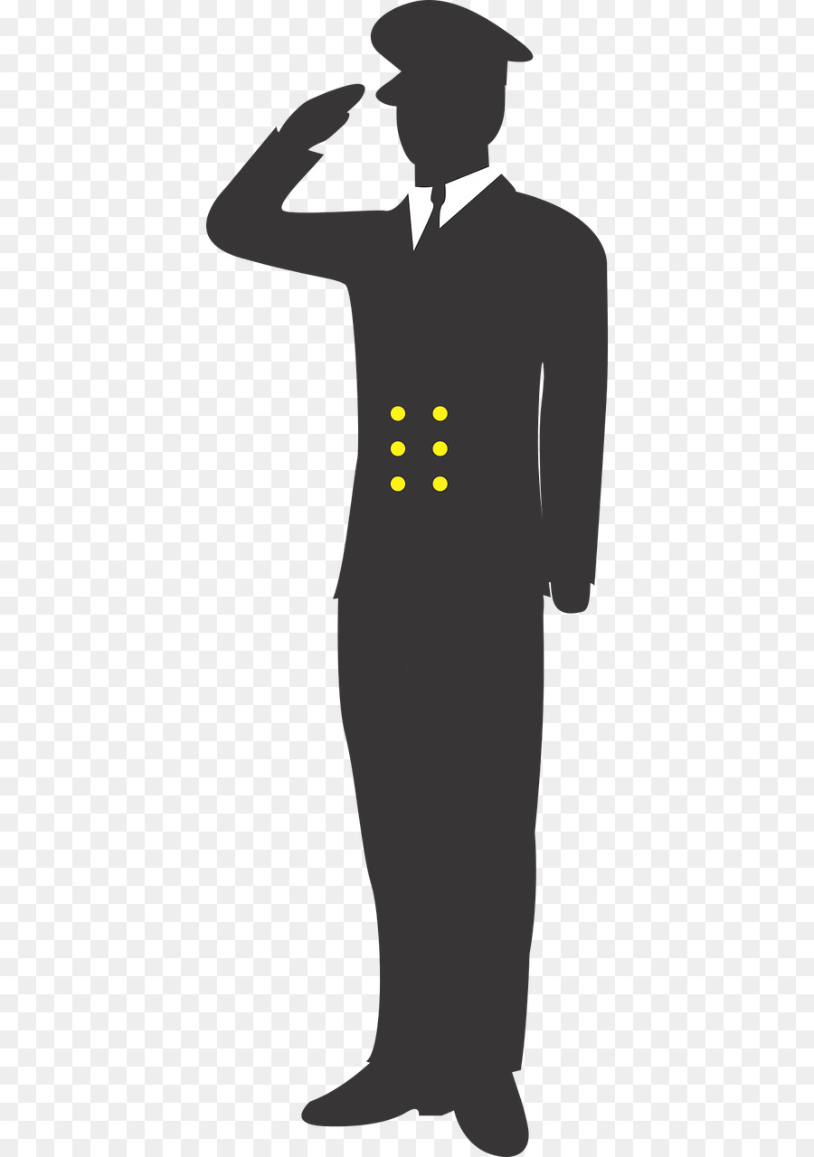 Free Military Salute Silhouette, Download Free Clip Art.