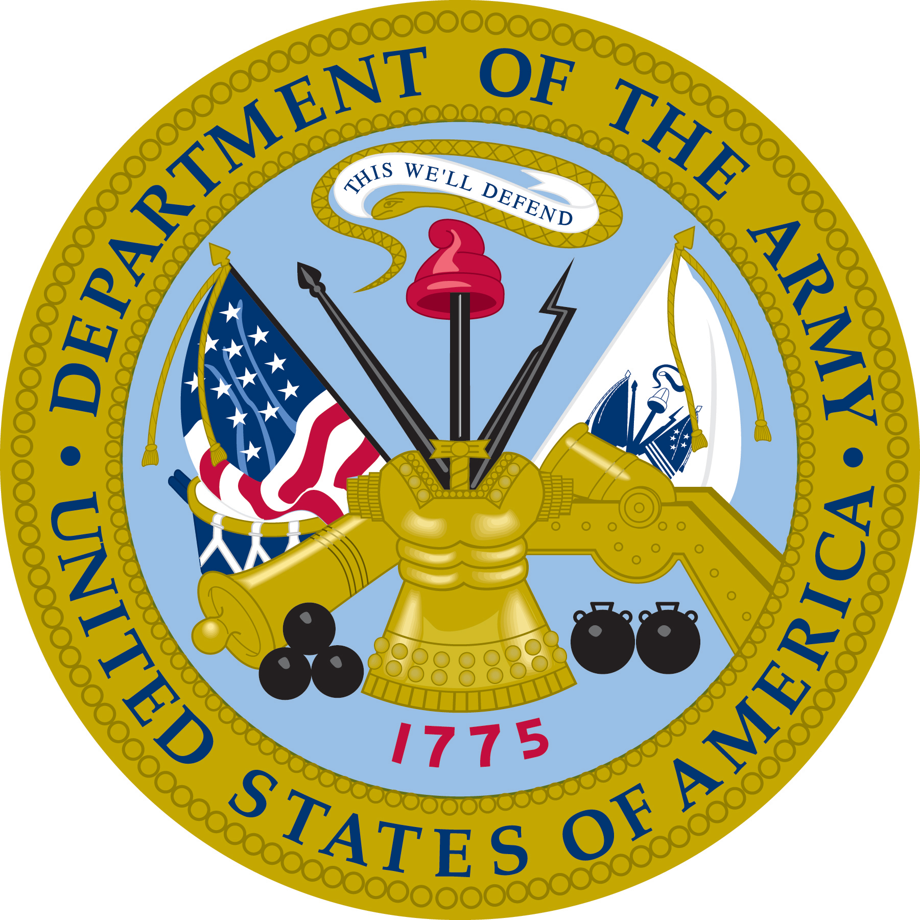 Military service seals clipart.