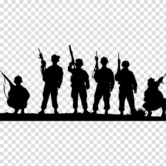 Soldier Military Silhouette , Military Parade transparent.