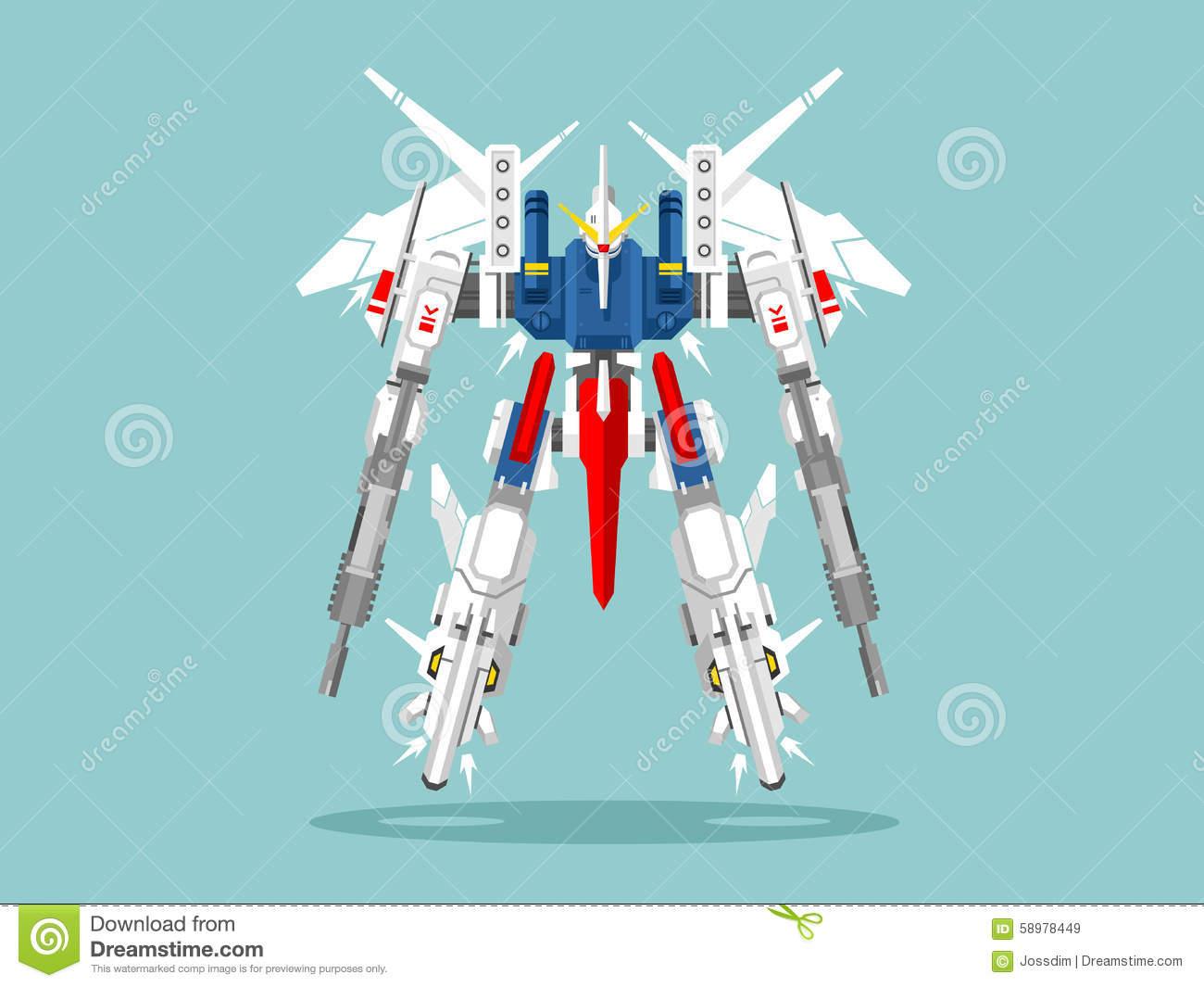 Military Robot Transformer Editorial Stock Image.