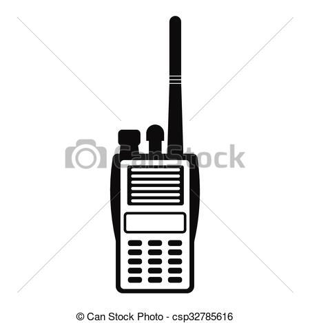 Vector Clip Art of Military radio simple icon. Shortwave radio.