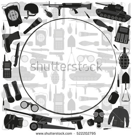Military Soldier Collection Silhouette Tanks Stock Photos, Royalty.