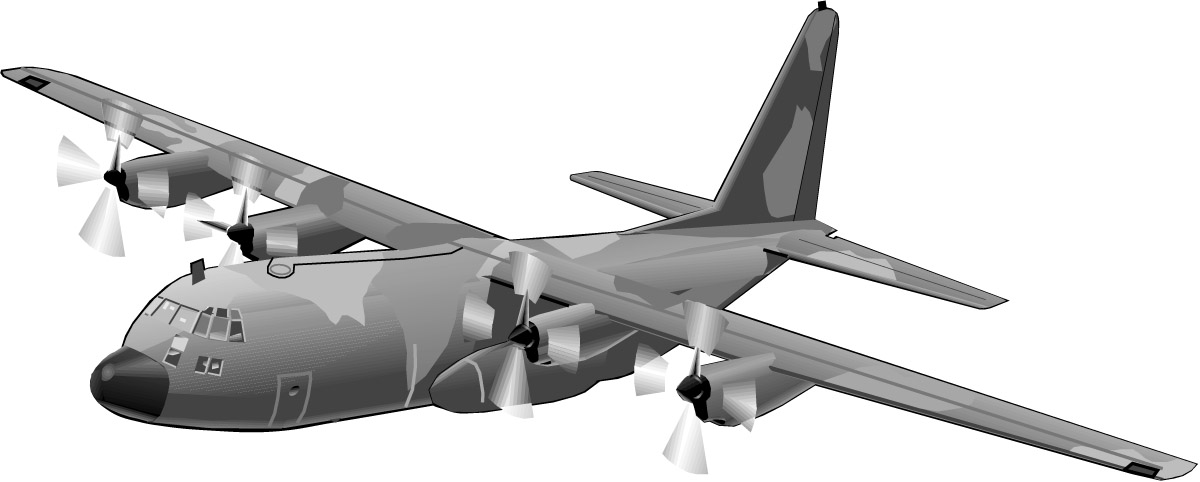 Military transport aircraft clipart - Clipground