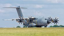 Military transport aircraft.