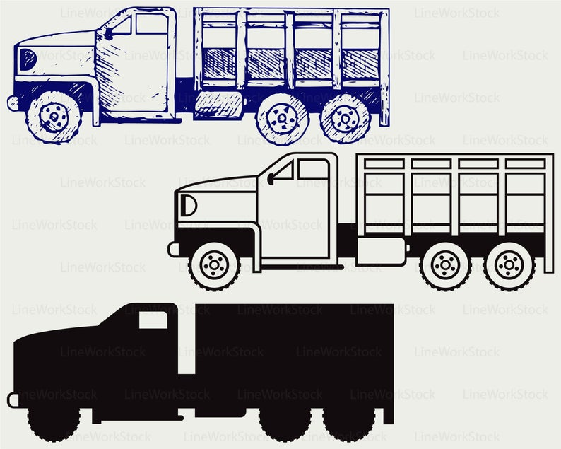Military truck svg/truck clipart/truck svg/truck silhouette/truck cricut  cut files/military truck clip art/digital download designs/svg.