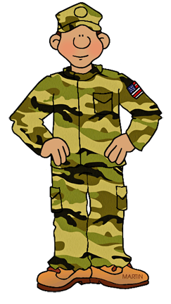 Free US Military Branches Clip Art by Phillip Martin.