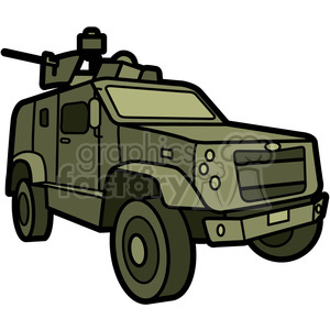 military armored M ATV vehicle clipart. Royalty.