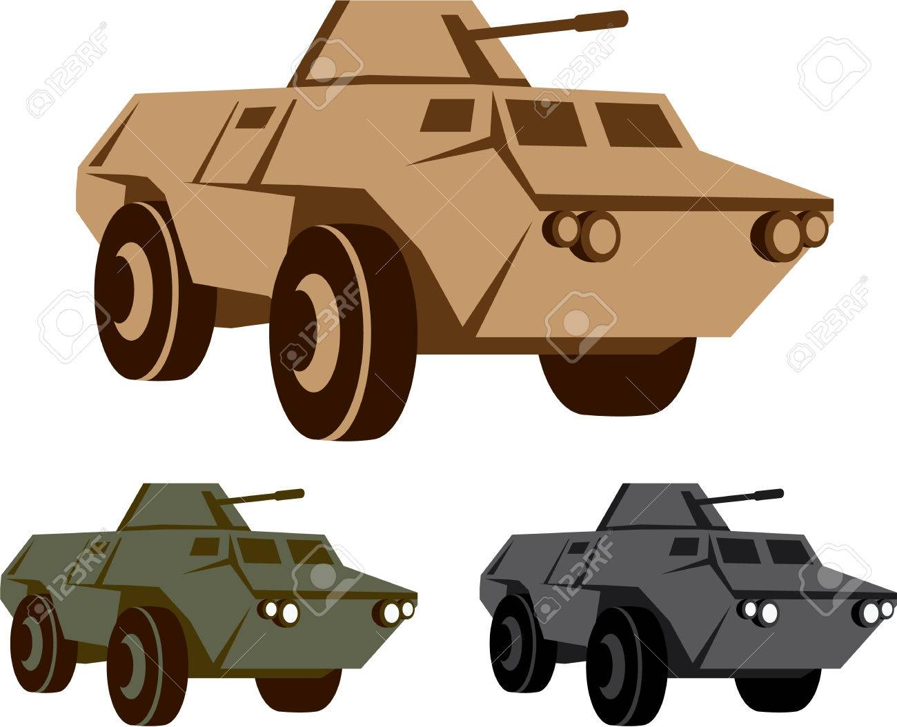APC vector illustration military vehicle clip.