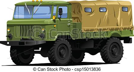 Military truck Clipart Vector Graphics. 634 Military truck EPS.