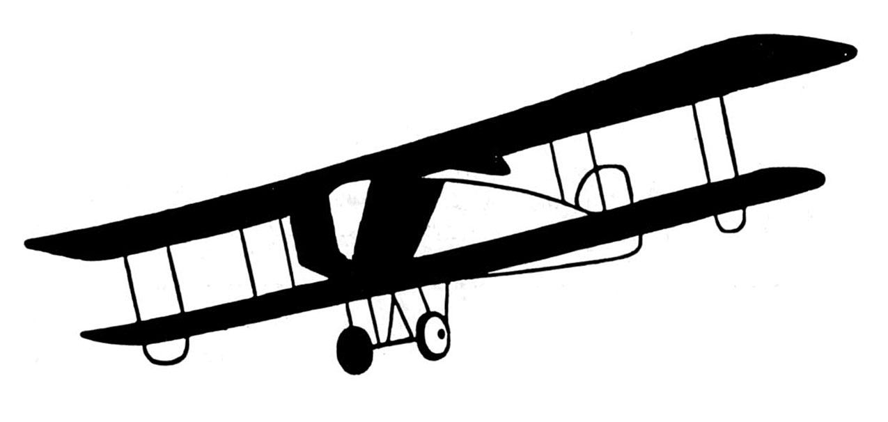 Vintage Plane Clip Art.
