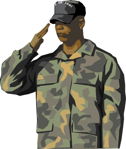 Army Veteran clip art Free vector in Open office drawing svg.