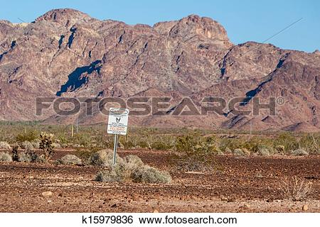 Stock Images of Danger sign for US Government military zone.