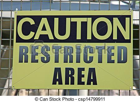 Stock Photography of sign of attention to avoid crossing forbidden.