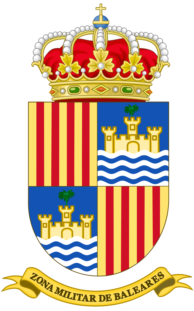 File:Coat of Arms of the Former Military Zone of the Balearic.