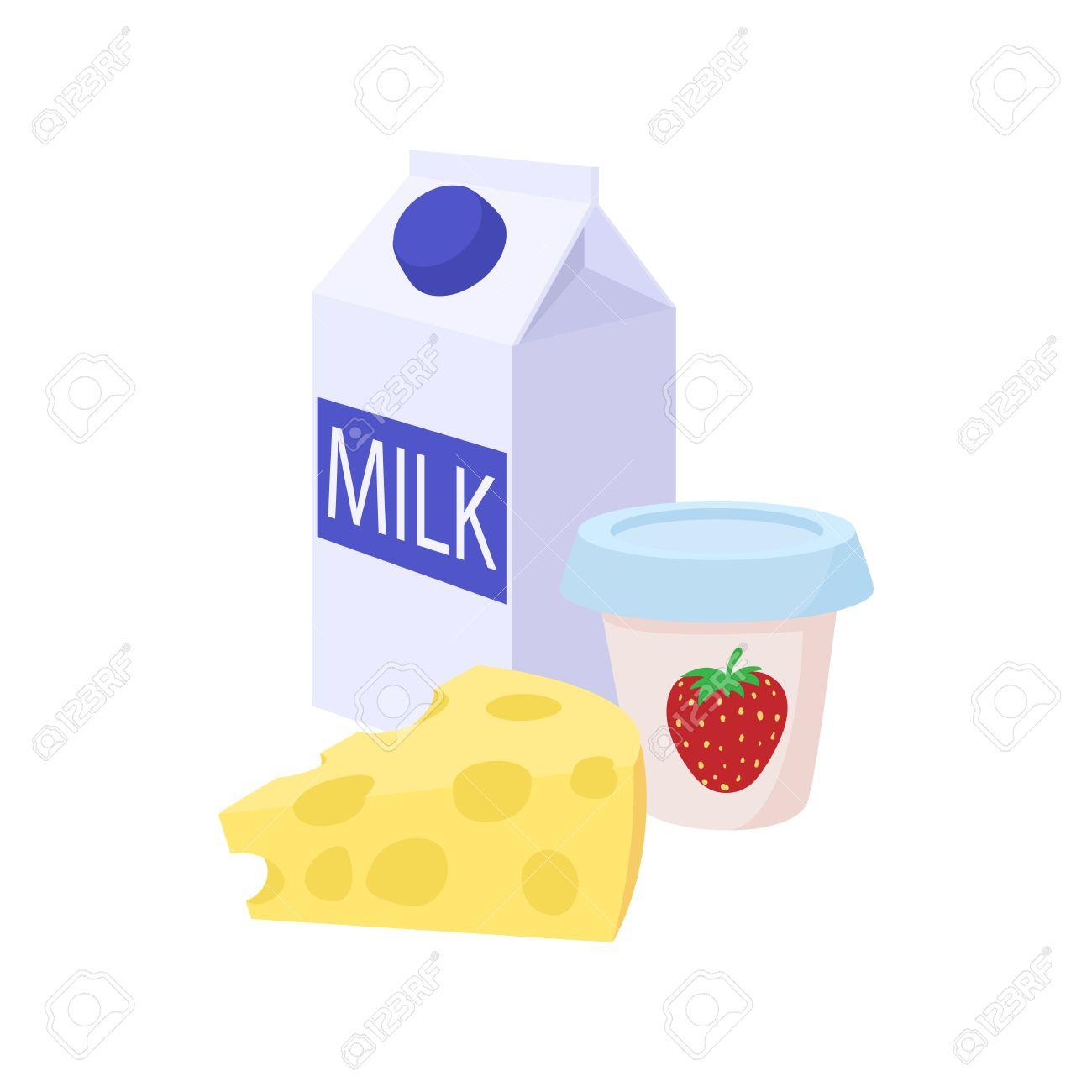 Milk And Yogurt Clipart.