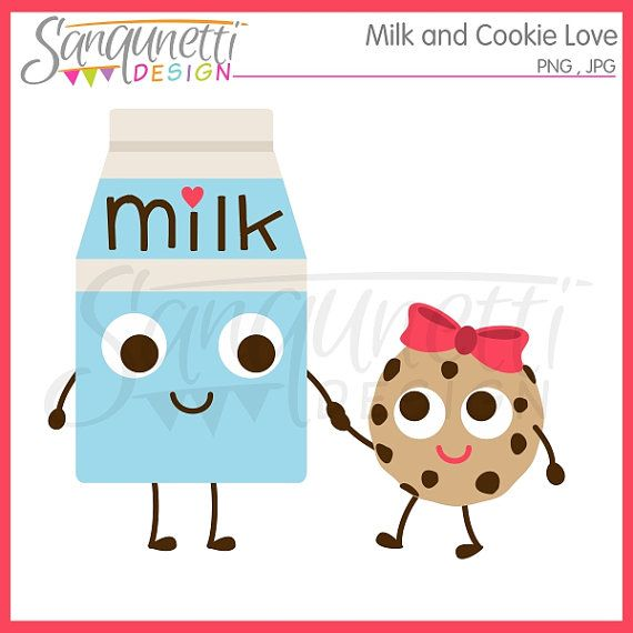 Milk and Cookie Clipart Milk Clipart Cookie by.