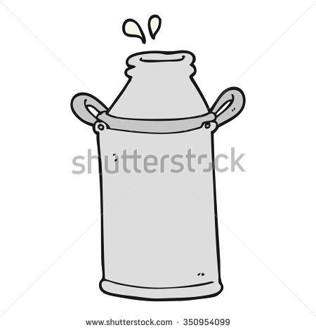 Freehand Drawn Cartoon Milk Barrel Stock Illustration 455815222.