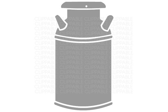 Milk can clipart.