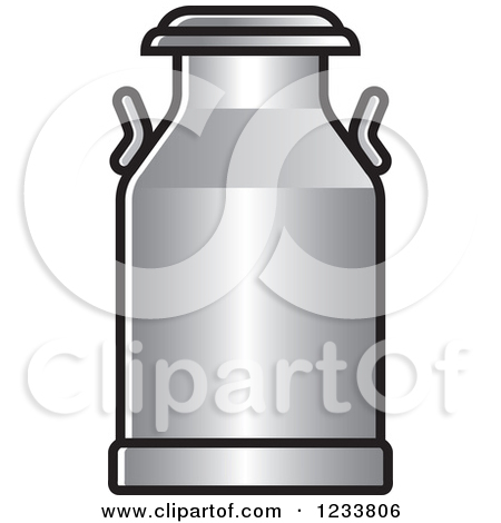 Clipart of a Blue Milk Can.