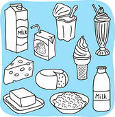 Clipart of Diary and milk products k9962902.