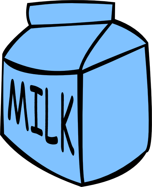 Vintage Milk Bottle Clipart.