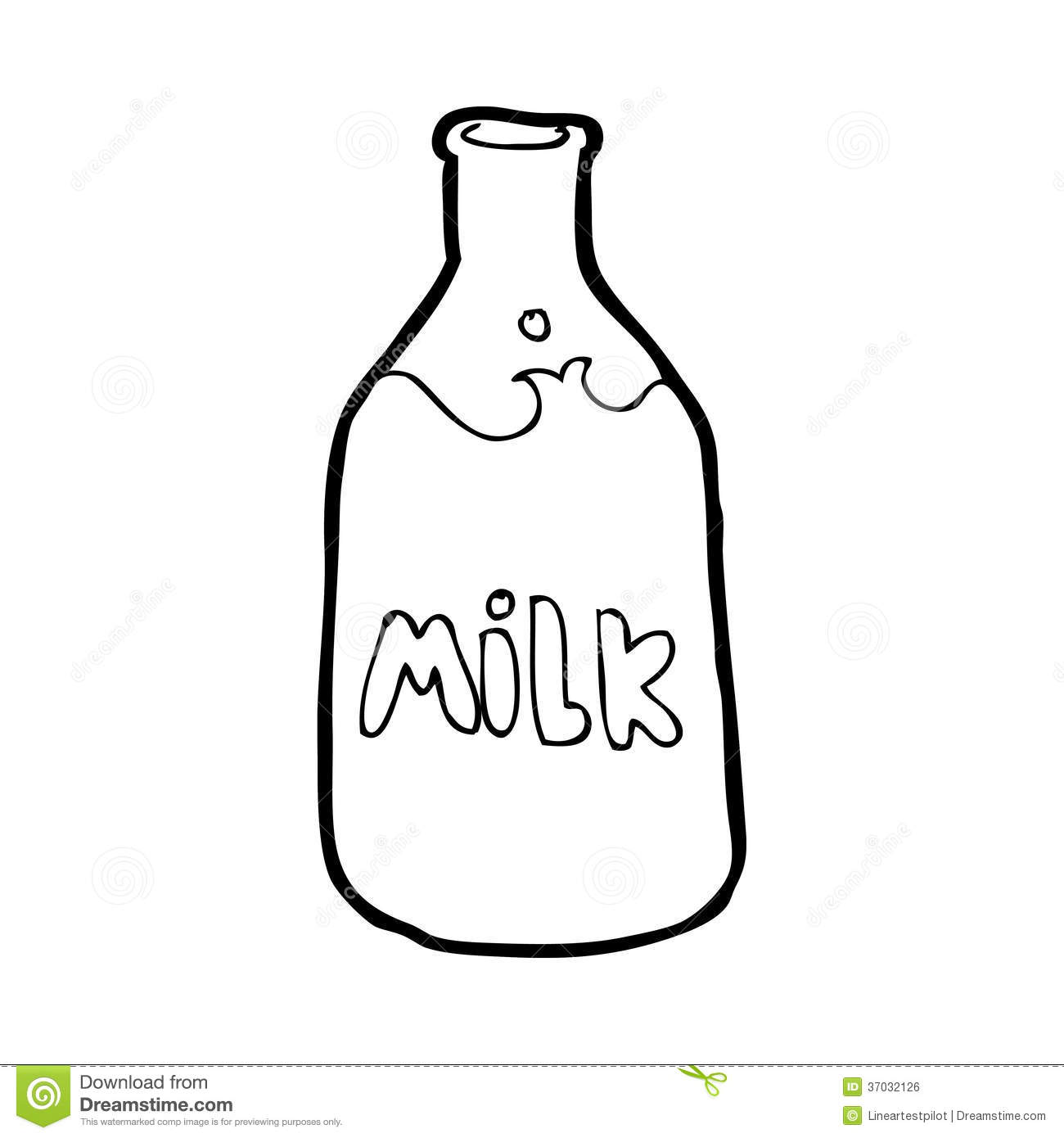 Glass milk bottle clipart.