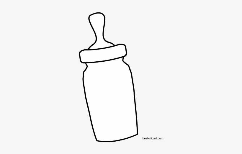 Black And White Milk Bottle Clipart.