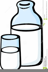 Milk Bottle Clipart.