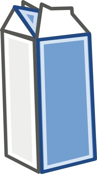 Milk Carton clip art Free vector in Open office drawing svg ( .svg.