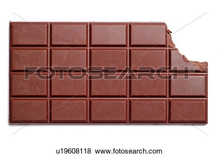 Pictures of Bar Of Dairy Milk Chocolate With The Corner Bitten Off.