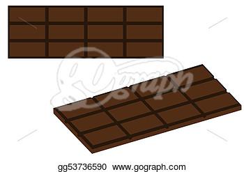 Milk Chocolate Bar Clipart.