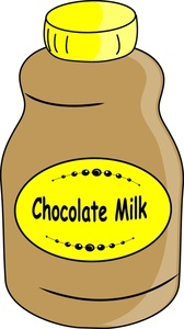 A glass milk chocolate clipart.