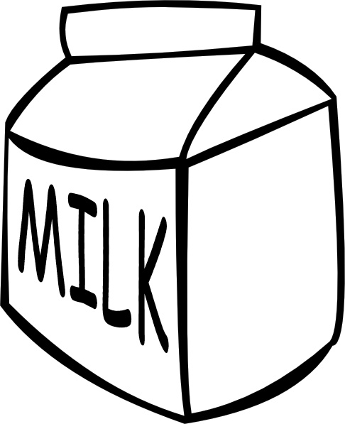 Milk (b And W) clip art Free vector in Open office drawing.