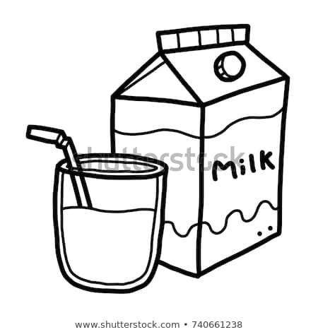 Clipart milk black and white » Clipart Portal.