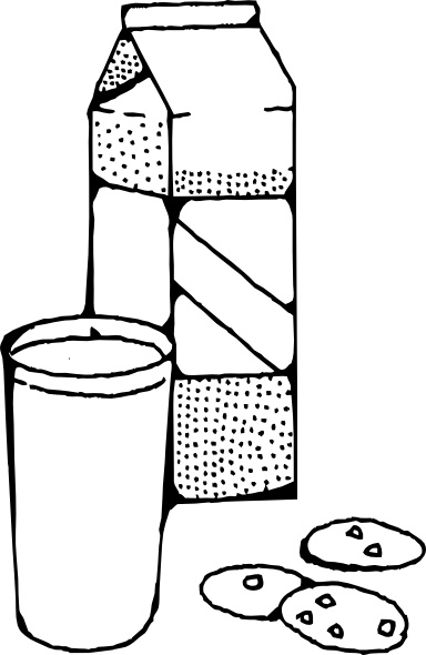 Milk And Cookies clip art Free vector in Open office drawing svg.