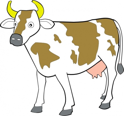 Outline Of A Cow.