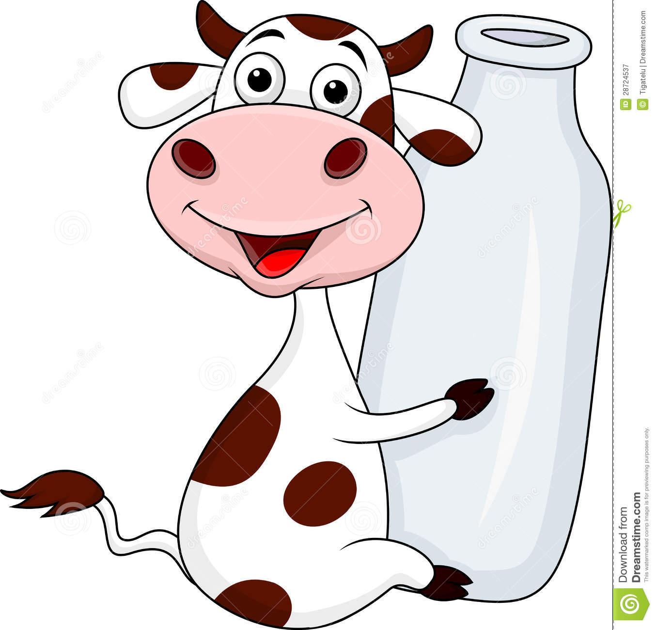 Milk cow clipart.