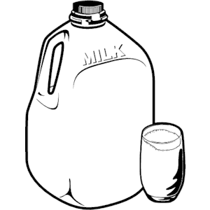 Collection of Milk jug clipart.