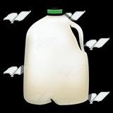 Milk Jug, with green cap.