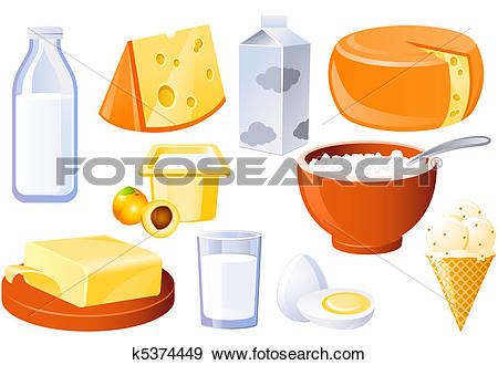 Stock Illustration of Milk and farm products k5374449.