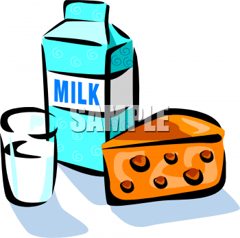 Milk and Cheese Clipart Picture.