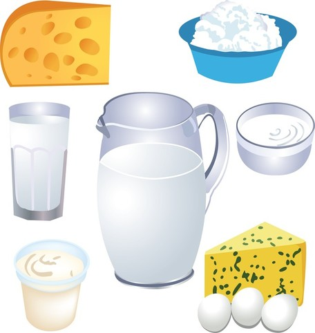 Milk Products, Vector File.