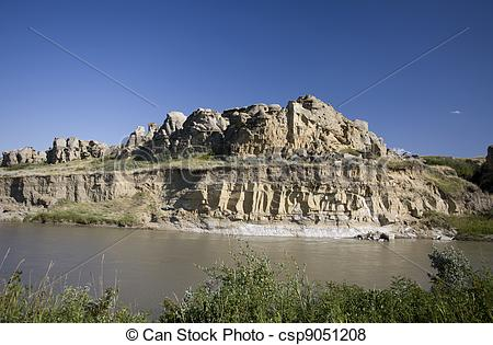 Pictures of Milk River Alberta Badlands Alberta Southern Canada.