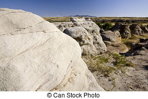 Stock Photography of Milk River Alberta Badlands Alberta Southern.