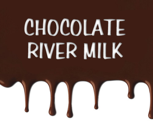 chocolate river milk labels by OhhSoNice.