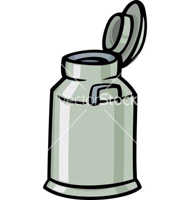 Milk can or churn cartoon clip art vector by Igor_Zakowski.