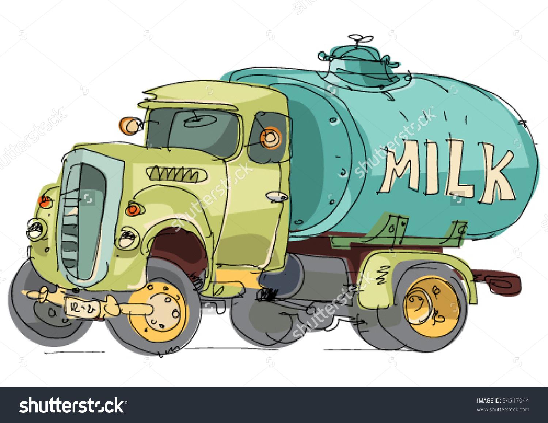 Milk tanker clipart.