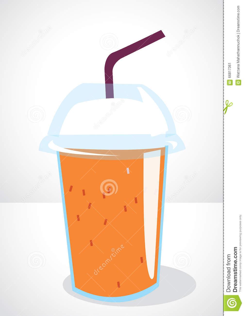 Ice Milk Tea Stock Vector.