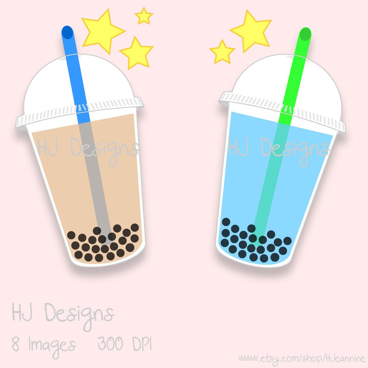 Bubble tea art.